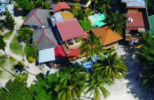Lost horizon beach dive resort alona beach from the air