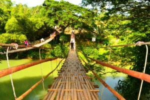 Hanging bridge at sevilla